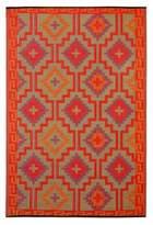 Fab Habitat Lhasa 8-Foot x 10-Foot Indoor/Outdoor Area Rug in Orange with Violet