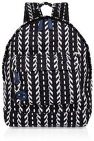 River Island Navy Mi-pac Folk Knit Backpack
