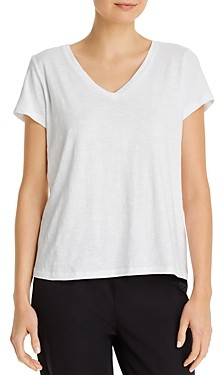 Eileen Fisher Petite System V-Neck Tee
