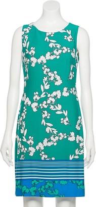 Chaps Women's Sleeveless Border Print Dress