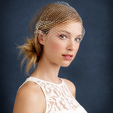 J.Crew Twigs & Honey® rhinestone birdcage veil