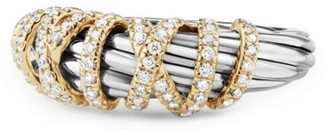 David Yurman Helena Ring with Diamonds and 18K Gold