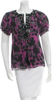 Magaschoni Silk Embellished Top