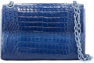Nancy Gonzalez Madison Colorblock Croc Double-Chain Shoulder Bag