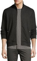 Billy Reid Ribbed Track Jacket, Charcoal