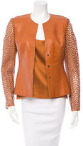 Akris Laser Cut Jacket Set