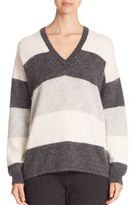 Vince Striped Mohair Sweater