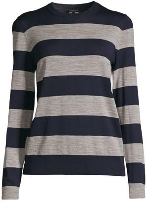 Lafayette 148 New York Striped Wool Sweater