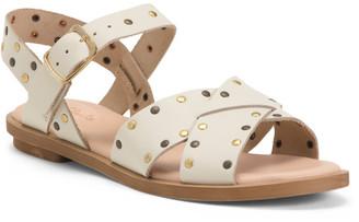 Made In Portugal Embellished Leather Comfort Sandals
