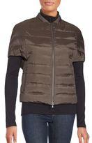 Brunello Cucinelli Short Sleeve Quilted Jacket