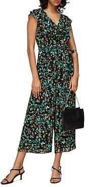Whistles Forest Floral Print Jumpsuit