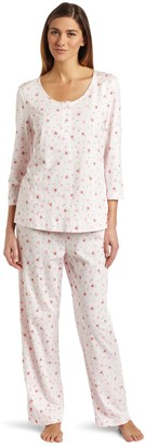Carole Hochman Women's Hearts and Roses Pajama Set
