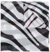 Roberto Cavalli zebra print scarf