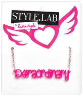 Fashion Angels Pink & Silvertone 'Extraordinary' Pendant Necklace