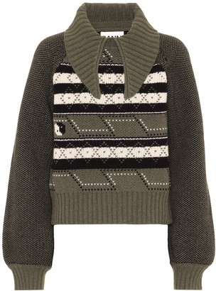 Ganni Wool-blend sweater