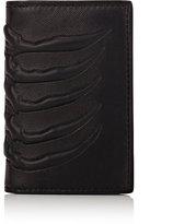 Alexander McQueen Men's Rib-Cage-Embossed Card Case-BLACK