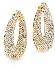 """Adriana Orsini Women's Crystal Pavé Twist Hoop Earrings/1.25"""""""