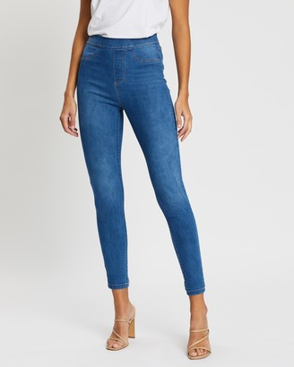 Dorothy Perkins Mid-Wash High-Waist Eden Jeans