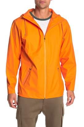 Rains Breaker Waterproof Zip Hooded Jacket