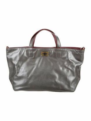 Chanel Iridescent Caviar Leather Mademoiselle Tote Metallic