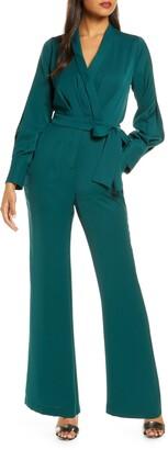 Adelyn Rae Charis Faux Wrap Jumpsuit