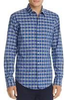 BOSS Robbie Long Sleeve Blue Plaid Button-Down Shirt