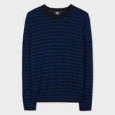 Paul Smith Men's Black And Blue Breton-Stripe Merino Wool Sweater