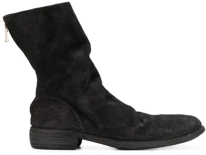 Guidi relaxed zipped boots