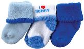 Luvable Friends Blue 'I Love Mommy' Sock Set