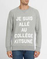 MAISON KITSUNÉ Grey Je Suis Allée Sweatshirt