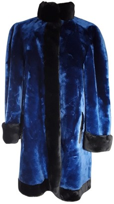 Christian Dior Blue Shearling Coat for Women Vintage