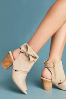 Anthropologie Suede Bow Shooties
