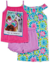 Asstd National Brand Komar Kids 3-pc. Pugs in Paradise Pajama Set - Girls 7-16