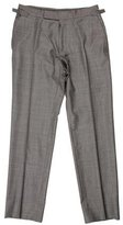 Tom Ford Wool Flat Front Pants
