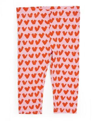 Stella McCartney Kids Cotton Heart Print Leggings (3-36 Months)