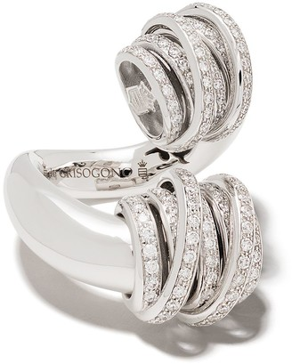 de Grisogono 18kt White Gold Coil Diamond Ring