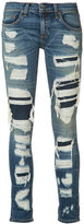 Rag & Bone Jean - distressed skinny jeans - women - Cotton/Polyurethane - 24