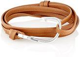 Miansai Men's Hook On Leather Wrap Bracelet-BROWN