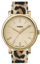 Timex 'Originals' Leather Strap Watch, 38mm