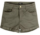 Miaokalin Women's Fold Slim Candy Color Plus Size Cargo Shorts XL