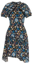 J.W.Anderson Floral-print puff-sleeve silk dress