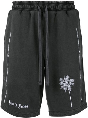 Bornxraised Embroidered Palm Shorts