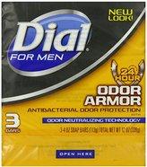 Dial for Men Odor Armor Antibacterial Soap, 3 Count