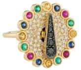Alison Lou 14K Blinged Out Spinner Ring