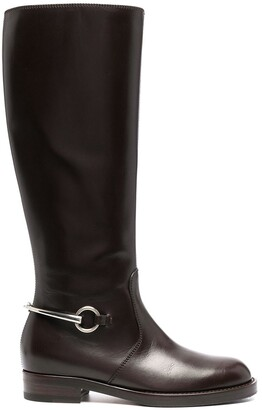 Gucci Buckle-Detail Knee-Length Boots