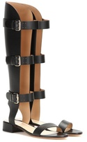 Francesco Russo Leather Gladiator Sandals
