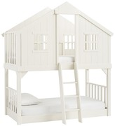 Pottery Barn Kids Tree House Bunk, Twin, Vintage Simply White