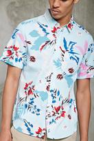 Forever 21 FOREVER 21+ Slim-Fit Tropical Floral Shirt