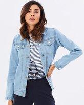 Miss Selfridge Longline Trucker Jacket