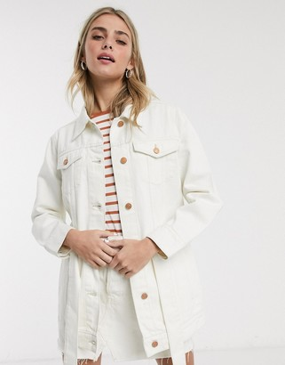 Brave Soul portland utility denim jacket with tie waist